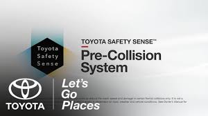 toyota go and see toyota safety sense pre collision system pcs settings and