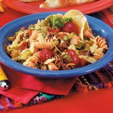 Mexican Pasta Salad Taco Pasta Salad Recipe Taste Of Home