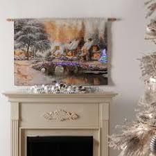 flake snowman fiber optic tapestry wallhanging features a joyful