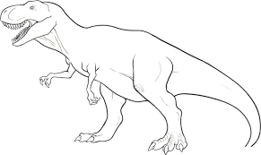 how to draw dinosaur t rex in simple lines youtube