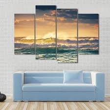 Ocean Decorations For Home by Online Get Cheap Ocean Waves Wall Canvas Art Sets Aliexpress Com