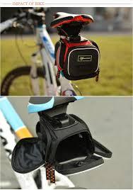 mtb waterproof rockbros bicycle saddle bags 3 colors waterproof rear fixed gear