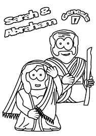 coloring pages sarah and abraham coloring home