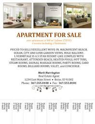 apartment for rent flyer template apartment flyer template free