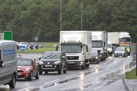 lexus breaking uk delays on a90 near dundee after lexus crashes into lamppost