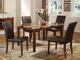 faux marble dining room table set furniture acme 06770 portland faux marble top dining table set