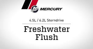 mercruiser 4 5l 6 2l sterndrive freshwater flush youtube