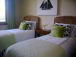 bedroom bold guest bedroom with wicker rug wood bed frame and bedroom bold guest bedroom with wicker rug wood bed frame and wall mount round mirror