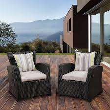 Wicker Patio Furniture Set - atlantic staffordshire resin wicker patio club chair set of 2