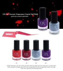 cr 12ml temperature control nail polish color changing thermal top