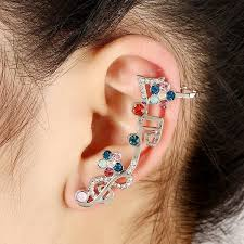 earrings on top of ear fashion clip earrings women ear cuff note earrings top