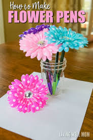 How To Make Roses Live Longer In A Vase How To Make Flower Pens Simple Diy Gift Idea