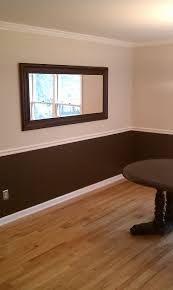 two tone painted walls with chair rail u2013 creation home