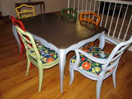 Colored Dining Room Chairs Colorful Dining Rooms Table Black Chairs Incredible Design With