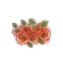 Wedding Flowers Drawing Watercolor Wedding Flowers Royalty Free Vector Image