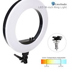 18 bi color led ring light video u0026 photography color