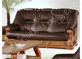 canapé cuir et bois charmant canapé cuir et bois massif artsvette