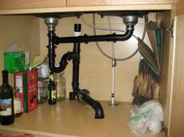 Kitchen Sink Plumbing by Slow Drain In Double Kitchen Sink With Inline Vent