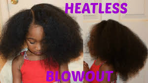 kids natural hairstyles heatless blowout african threading youtube