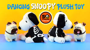 peanuts dancing skeleton snoopy halloween plush toy 50th