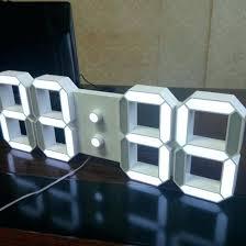 ivation clock large display digital wall clocks digital wall clocks with large