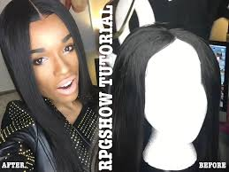 african american hairstyles with parts down the middle how to lay a rpgshow wig w middle part giveaway youtube