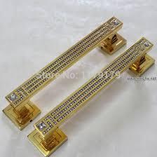 glass crystal door knobs 295mm luxury k9 glass crystal door handles shiny gold big gate