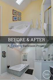 Bathroom Remodels Before And After Before U0026 After A Luxury Bathroom Remodel Home Remodeling