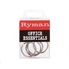 Rymans Filing Cabinet Binding Rings 25mm Pack Of 4 Ring Binders Filing U0026 Folders