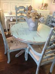 distressed pale blue shabby table and chairs forgotten finds