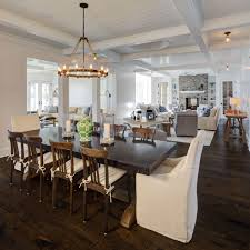 Coastal Dining Room Concept Open Concept Living In A Custom Home Colby Construction