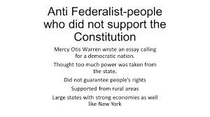 helped write the federalist papers federalist essay sample outline for persuasive essay mla format creating a government how did different colonies form to become anti federalist people who did not