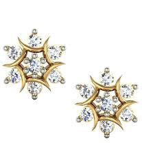 real diamond earrings avsar stunning 18kt gold real diamond stud earrings buy avsar