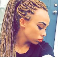 whats new in braided hair styles blond box braids pinteres