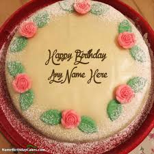 600 happy birthday cake with name and photo