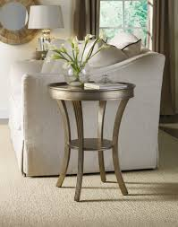 accent furniture tables hooker furniture living room sanctuary round mirrored accent table