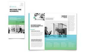 accounting u0026 bookkeeping brochure templates word u0026 publisher