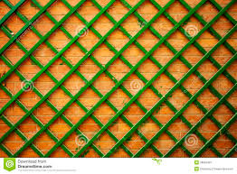 trellis on a brick wall stock photo image 67918102