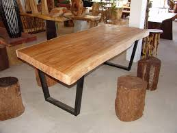 rustic dining table diy gloss mahogany table combined design