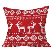 barn red christmas deer throw pillow 20