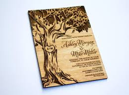 wooden wedding invitations sale 25 wooden wedding invitation oak tree real wood laser