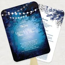 Wedding Ceremony Programs Diy Into The Woods Wedding Ceremony Program Fan Diy By Idoityourself