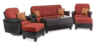 the brick coffee tables breckenridge red 6 pc patio furniture set swivel rockers sofa