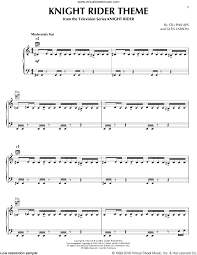 phillips knight rider theme sheet music for piano solo