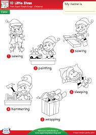 10 little elves worksheet u2013 vocabulary coloring super simple