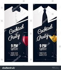 cocktail party invitation flyer poster design stock vector