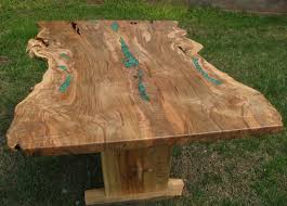 crafted live edge ambrosia maple dining trestle table by
