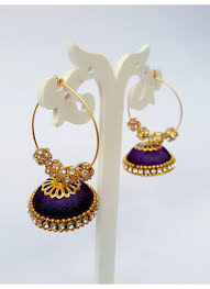 fancy jhumka earrings buy matching handmade designer south indian fancy jhumka 8670