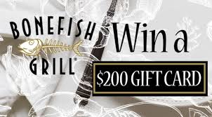 bonefish gift card win a 200 giftcard to bonefish grill contest 92 1 the beat
