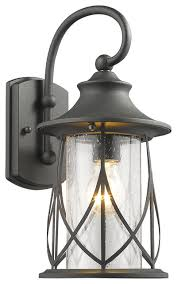 Traditional Sconces Marhaus 1 Light Outdoor Wall Sconce Black Traditional Outdoor